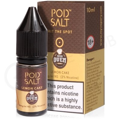Lemon Cake Nic Salt E-Liquid by Pod Salt & Baker's Oven
