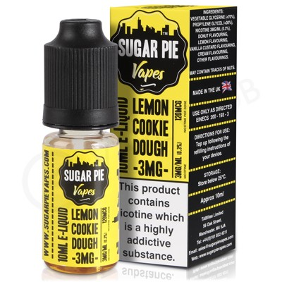 Lemon Cookie Dough eLiquid by Sugar Pie Vapes