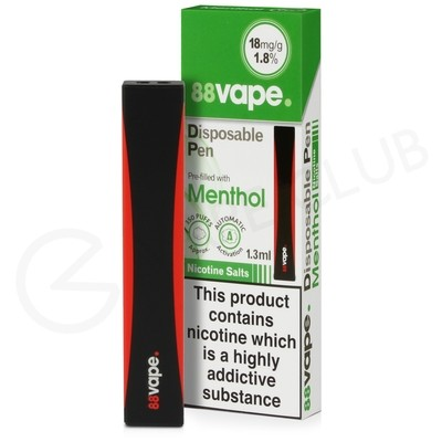 Menthol 88Vape Disposable Device