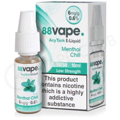 Menthol Chill E-Liquid by 88Vape Any Tank