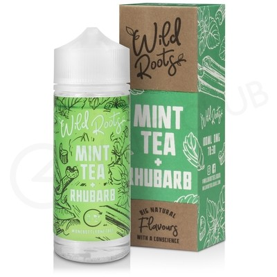 Mint Tea & Rhubarb Shortfill E-Liquid by Wild Roots 100ml