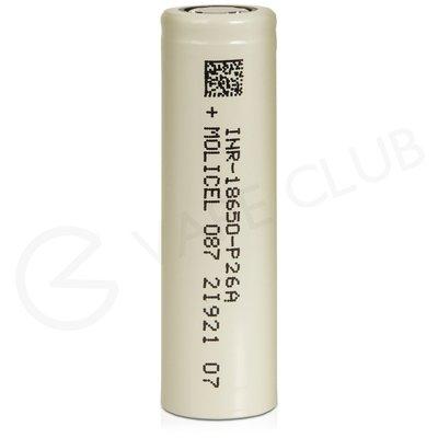 Molicel 18650 Rechargeable Vape Battery (2600mAh 25A)