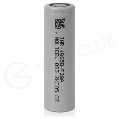 Molicel P28A 18650 Rechargeable Vape Battery (2800mAh 25A)