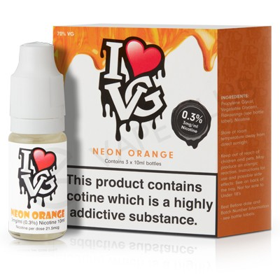 Neon Orange eLiquid by I VG