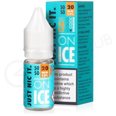 Nic Salt on Ice 50VG Nicotine Booster Shot by Just Nic It