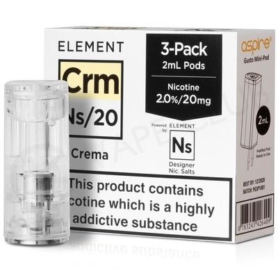 NS20 & NS10 Crema E-liquid Pod By Element