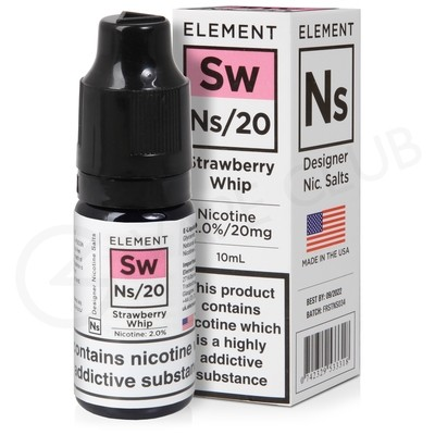 NS20 & NS10 Strawberry Whip E-liquid by Element