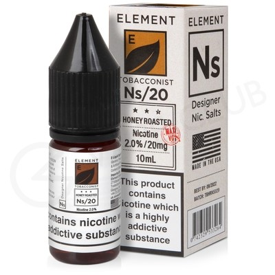 NS20, NS10 & NS5 Honey Roast Tobacco E-Liquid by Element