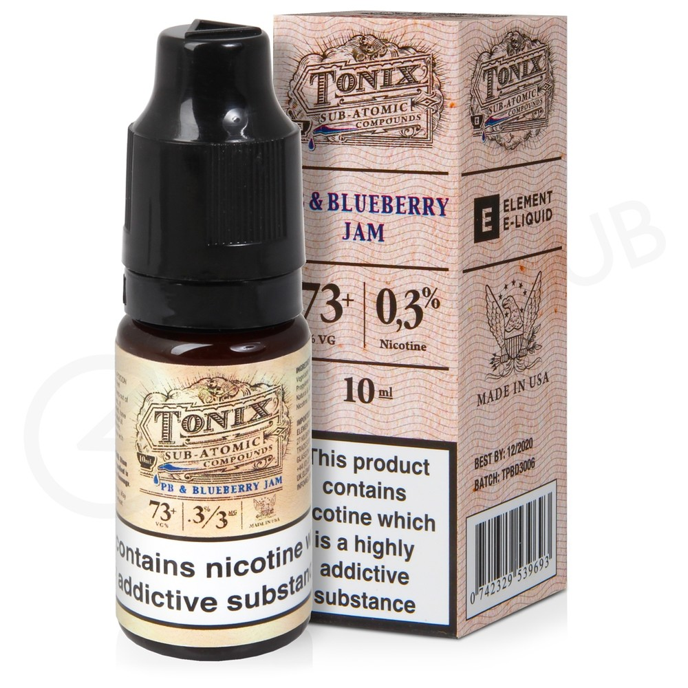 PB & Blueberry Jam E-Liquid by Tonix