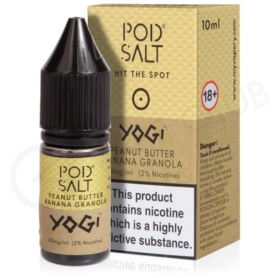 Yogi Peanut Butter Banana Granola Nic Salt E-Liquid by Pod Salt & Yogi