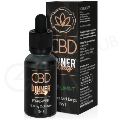 Peppermint CBD Oral Drops by Dinner Lady