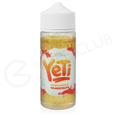 Pineapple Grapefruit Shortfill E-Liquid by Yeti Ice 100ml