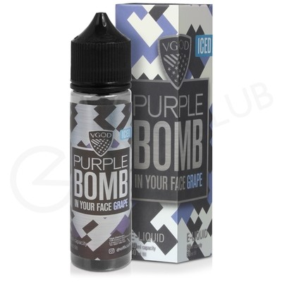 Purple Bomb Iced Shortfill E-Liquid by VGOD Bomb Line 50ml