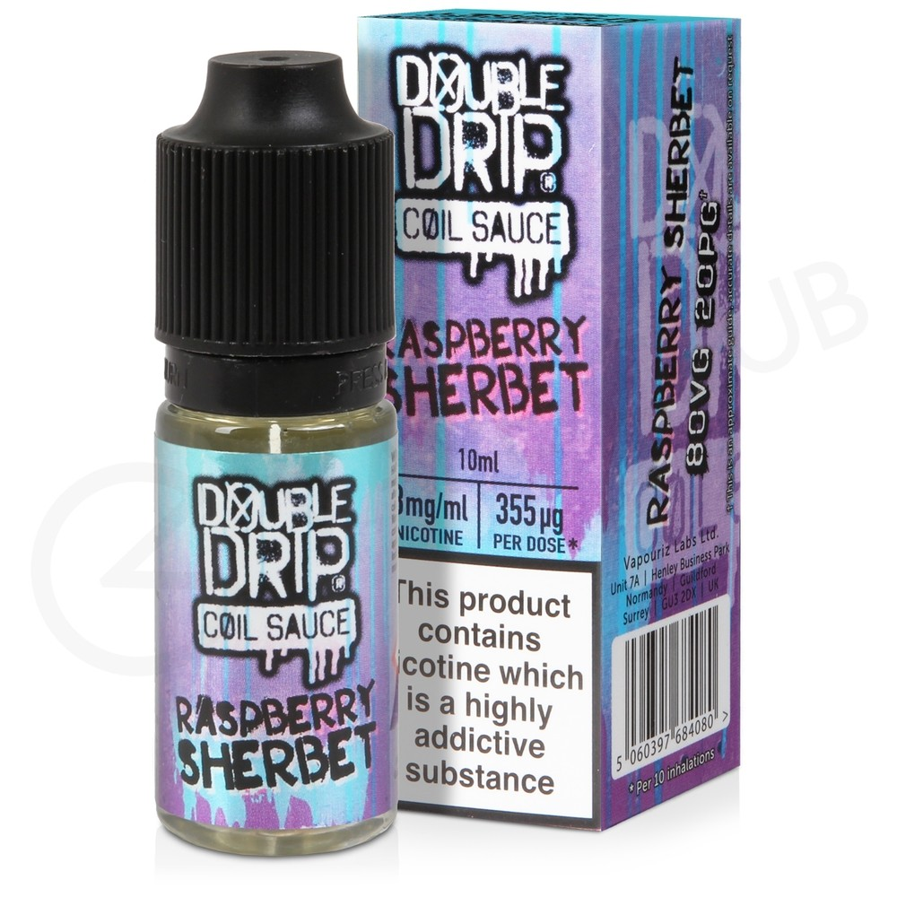 Raspberry Sherbet eLiquid by Double Drip