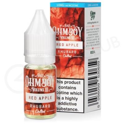 Red Apple Rhubarb Nic Salt E-Liquid by Ohm Boy Volume III