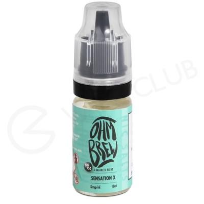 Sensation X E-liquid by Ohm Brew 50/50 Nic Salts