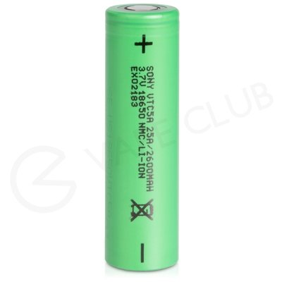 Sony VTC5A 18650 Rechargeable Vape Battery (2600mAh 20A)