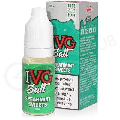Spearmint Sweets Nic Salt eLiquid by IVG