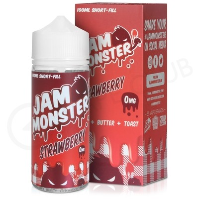 Strawberry 100ml Shortfill by Jam Monster