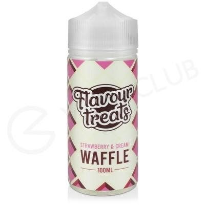Strawberry & Cream Waffle Shortfill E-Liquid by Flavour Treats 100ml
