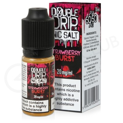 Strawberry Burst Nic Salt E-Liquid by Double Drip