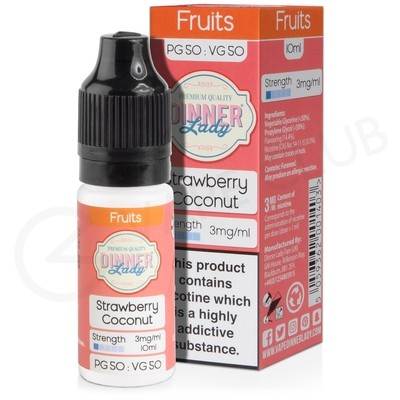 Strawberry Coconut E-Liquid by Dinner Lady 50/50