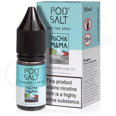 Strawberry Kiwi Ice Nic Salt E-Liquid by Pod Salt & Pacha Mama