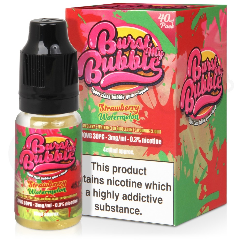 Strawberry Watermelon eLiquid by Burst My Bubble