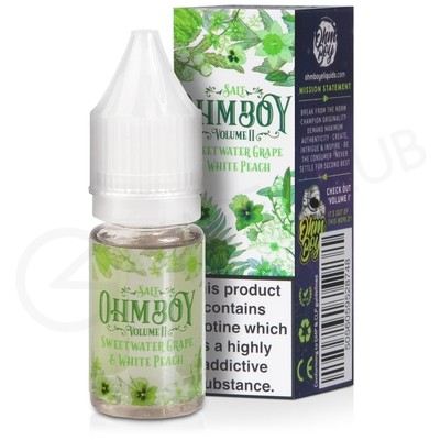 Sweetwater Grape & White Peach Nic Salt eLiquid by Ohm Boy Volume II