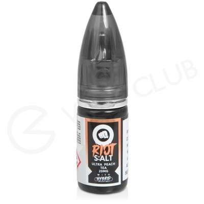 Ultra Peach Tea E-Liquid by Riot Salt Black Edition
