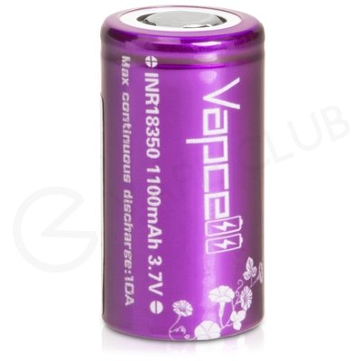 VapCell 18350 Rechargeable Vape Battery (1100mAh 10A)
