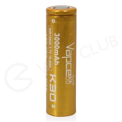 Vapcell K30 18650 Rechargeable Vape Battery (3000mAh 15A)