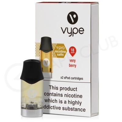 Very Berry Nic Salt ePod Prefilled Pod by Vype