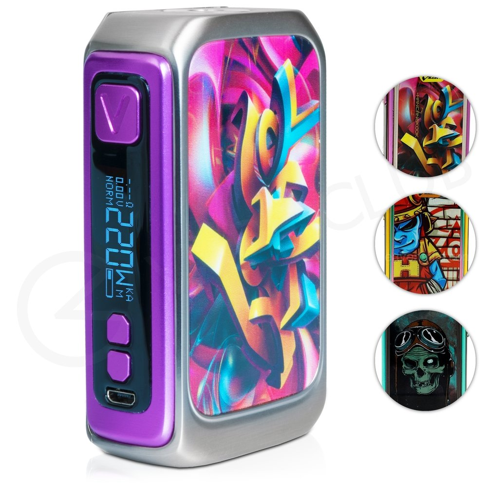 Vzone graffiti 220w vape mod double tap to zoom