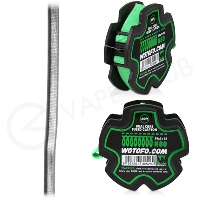 Wotofo Dual Core Fused Clapton 20ft Wire Reel